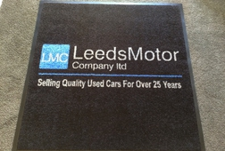 ENTRANCE MATTING SYSTEMS UK - PREMIUM LOGO MAT - LEEDS MOTOR
