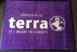 ENTRANCE MATTING SYSTEMS UK - PREMIUM LOGO MAT - WELCOME TO TERRA